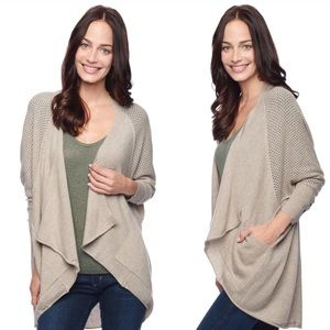 NEW Splendid 100% Cashmere Draped Cardigan Sweater